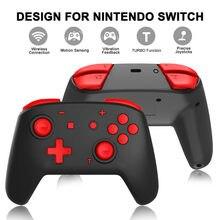 Sıcak Bluetooth kablosuz gamepadler çift motorlar altı eksenli somatosensorial ile titreşim oyun denetleyicisi anahtarı Pro oyun konsolu