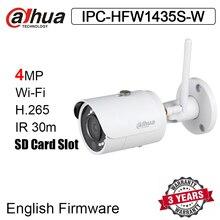 Dahua câmera de vigilância externa, 4mp, wifi ip IPC HFW1435S W h.265 visão noturna, câmera de substituição IPC HFW1320S W