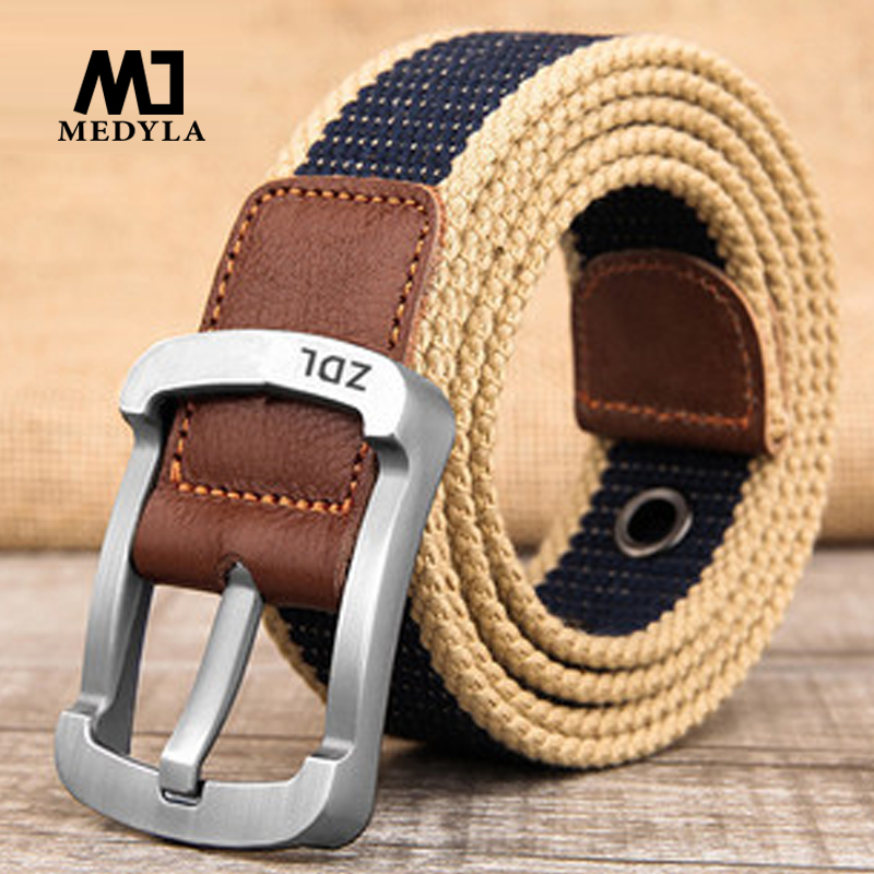 Military Tactical Belt Men Canvas Belts For Jeans Male Casual Metal Pin High Quality Perforated Canvas Belts Are Available