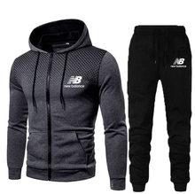 Erkek setleri marka spor eşofman sonbahar kış 2 parça setleri erkek giyim Hoodies + pantolon setleri erkek streetwear ceket ceket