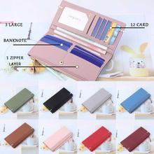 Fashion Thin Long Wallet For Women 2019 Fashion Letter Print Soft Leather Zipper Long Clutc