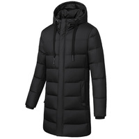 ZYNNEVA Winter Long Section Heated Jackets Men Women Thick Down Electric Heating Coat Outdoors Hiking Cotton Warm Clothes GK6111