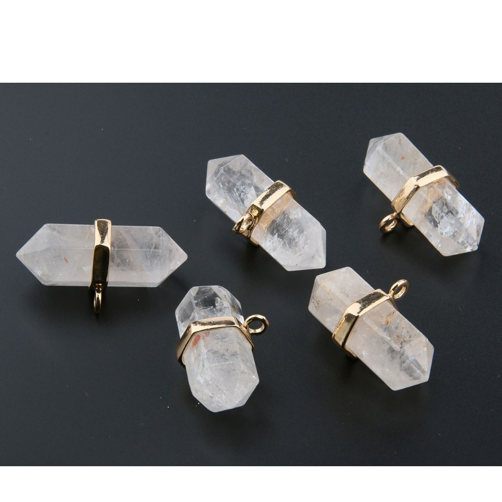 Wholesale Jewelry Pendants for Men Women Pink Crystal Natural Stone Pendant DIY for Necklace or Jewelry Making 35 20 12mm in Pendants from Jewelry Accessories