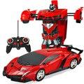 Новый Rc автомобиль деформации 2 в 1 RC автомобиль Вождение спортивные автомобили привод деформационные роботы модели дистанционного управле...