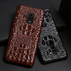 Image 1 - Coque de téléphone en cuir pour Xiaomi Redmi Note 9 S 8 7 6 5 K30 Mi 9 se 9T 10 Lite A3 Mix 2s Max 3 Poco F1 X2 X3 F2 Pro tête de Crocodile