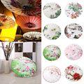 Китайский стиль Цветочный тканевый зонтик пион персиковый цветок декоративный масляной холст декоративный цветок зонтик классический рек...