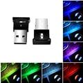Цветная (RGB) светодиодная автомобильный светильник авто Интерьер атмосферу светильник мини декоративный светильник аварийный светильник н...