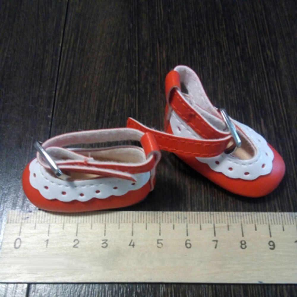 5cm Moda Mini Brinquedo Sapatos para 1 Par Sapatos de Couro PU para o Russo Boneca BJD Acessórios Da Boneca Artesanal