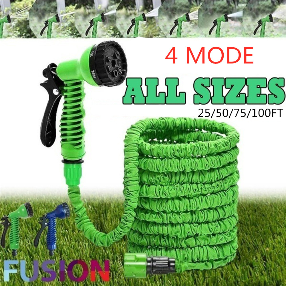 25/50/75/100FT Garden Hose Expandable Flexible Water Hose Pipe Watering With Spray Gun To Watering Car Wash Spray