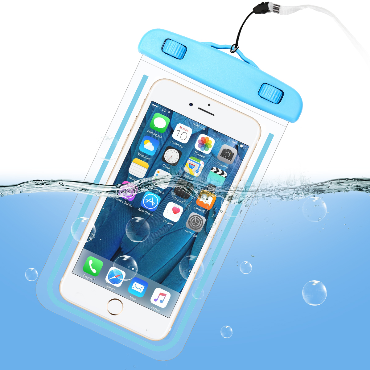 Swimming Phone Bag Real Waterproof Case For IPhone 11 Pro XS Max X 8 7 6 6s Plus Samsung S20 S10 S9 Plus Under Water Proof Pouch