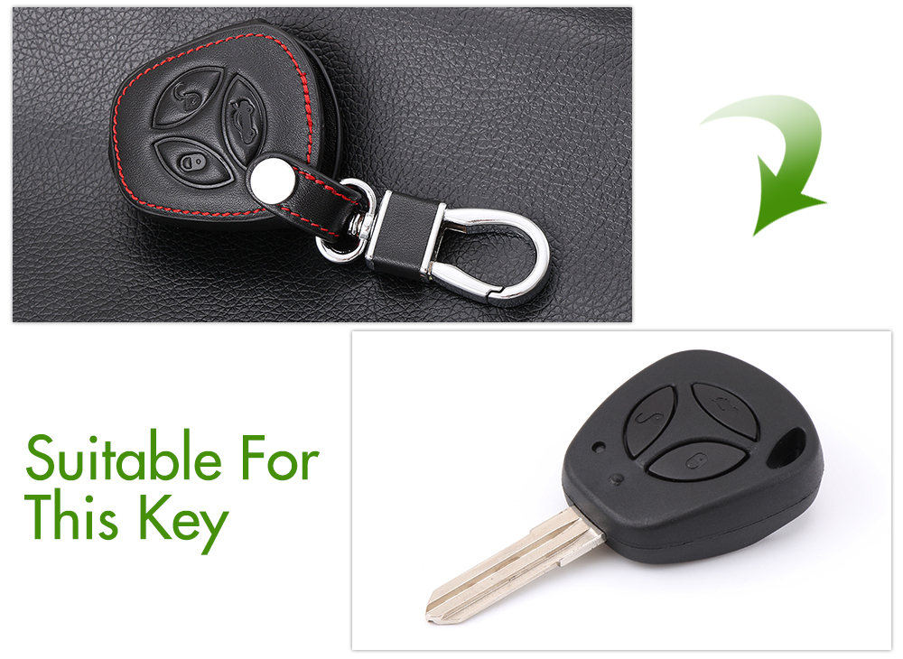 Image 3 - Car folding key Leather Case for LADA Sedan Largus Kalina Granta Vesta X Ray XRay Remote Key Fob Cover Protect Set-in Key Case for Car from Automobiles & Motorcycles