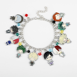 Hot Anime My Hero Academia Charm Bracelets Boku No Hero Academia Midoriya Izuku deku Bracelet Bangle Metal Alloy Jewelry Gifts