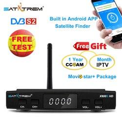 Satxtrem x800s hd DVB-S2 receptor de satélite cccam espana 8 linhas para 1 ano europa livre decodificador tv receptor ccam espanha x800 hd