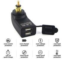 for BMW R1200GS S1000XR F800GS R1250GS F700GS F850GS Motorcycle Dual USB Charger Power Adapter 12-24V Cigarette Lighter Socket