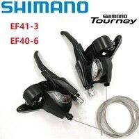 SHIMANO TOURNEY ST EF41 3 / EF40 6 Shift / Brake Lever 3x6 18 Speed MTB Mountain Bike SHifting V Brake / Mechanical Disc Brake