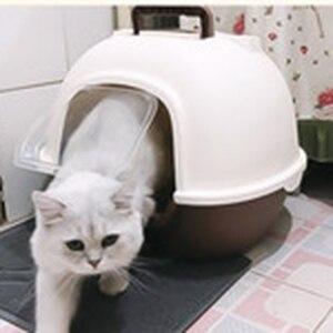 Środki czystości duża kuweta dla kota zamknięta toaleta królik kuweta samoczyszcząca Arenero Gato Cerrado plastikowe pudełko z piaskiem produkty dla zwierzaka domowego B70