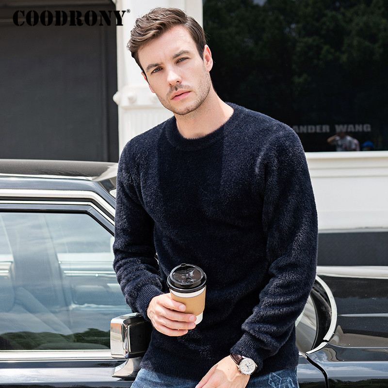 COODRONY Brand Fleece Pull Homme Autumn Winter Thick Warm Sweater Men Casual Knitwear O-neck Pullover Men Fashion Clothes C1028