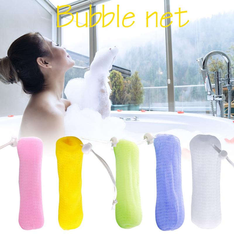 5pcs Portable For Body Cleaning Facial Washing Pouch Bubble Mesh Bag Bathroom Accessories Handmade Soap Drawstring Exfoliating