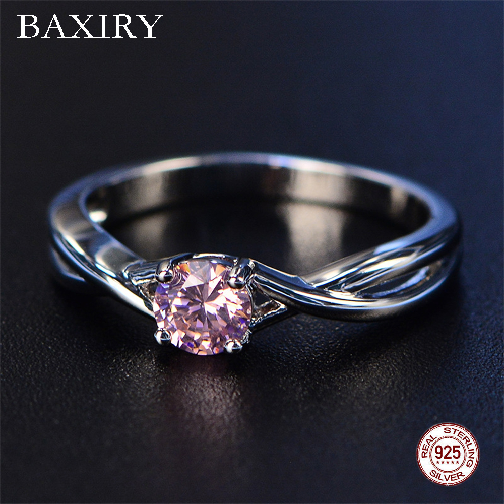 2019 New Fine Trendy Engagement Ruby Ring Silver 925 Jewelry Amethyst Gemstone Ring Silver Emerald Blue Sapphire Ring For Women