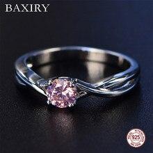 2019 novo bem na moda noivado rubi anel de prata 925 jóias ametista anel de pedra preciosa prata esmeralda azul safira anel para mulher