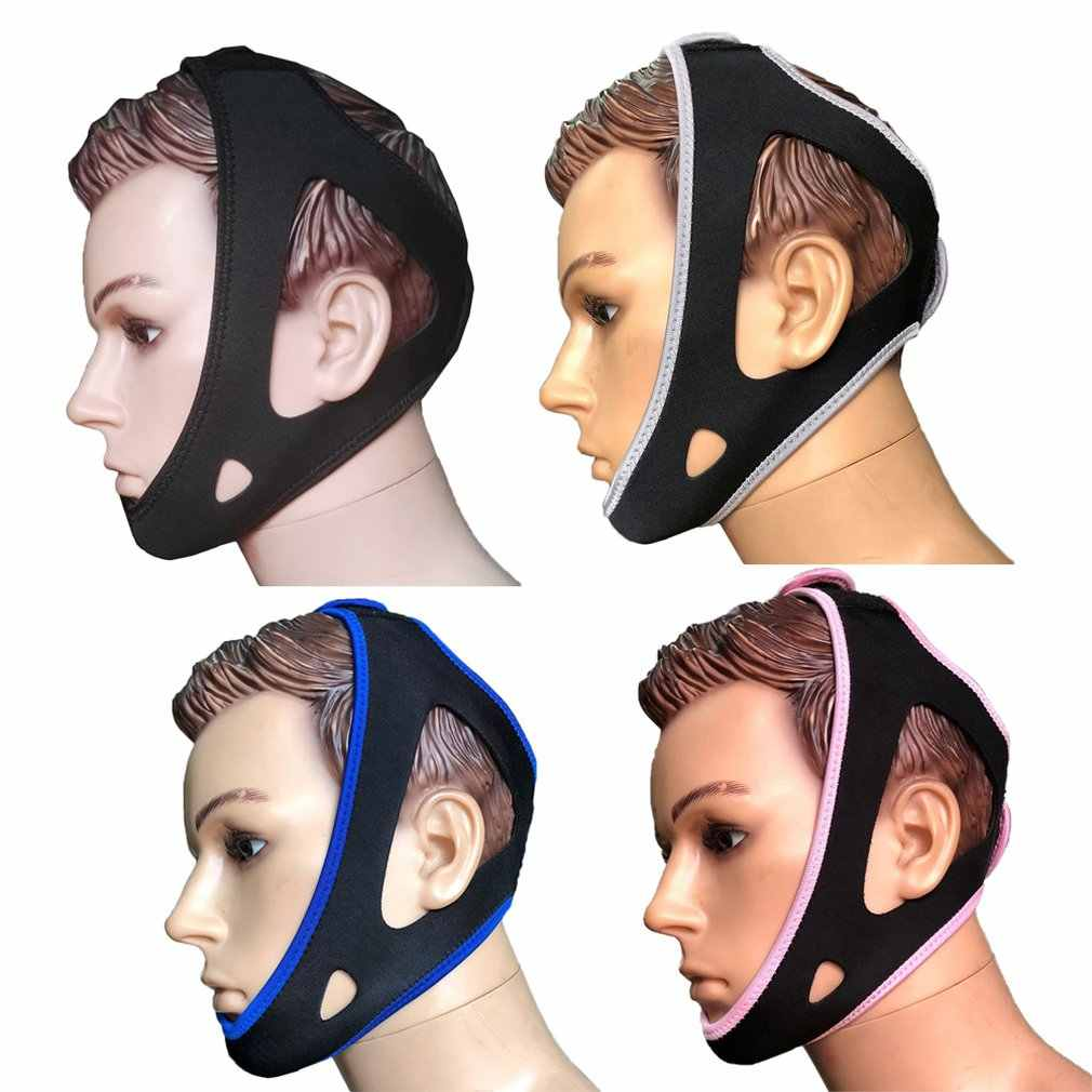 Przeciw chrapaniu zatrzymaj chrapanie pasek pod brodą bezdech szczęki wsparcie pasa regulowane pomoce snu