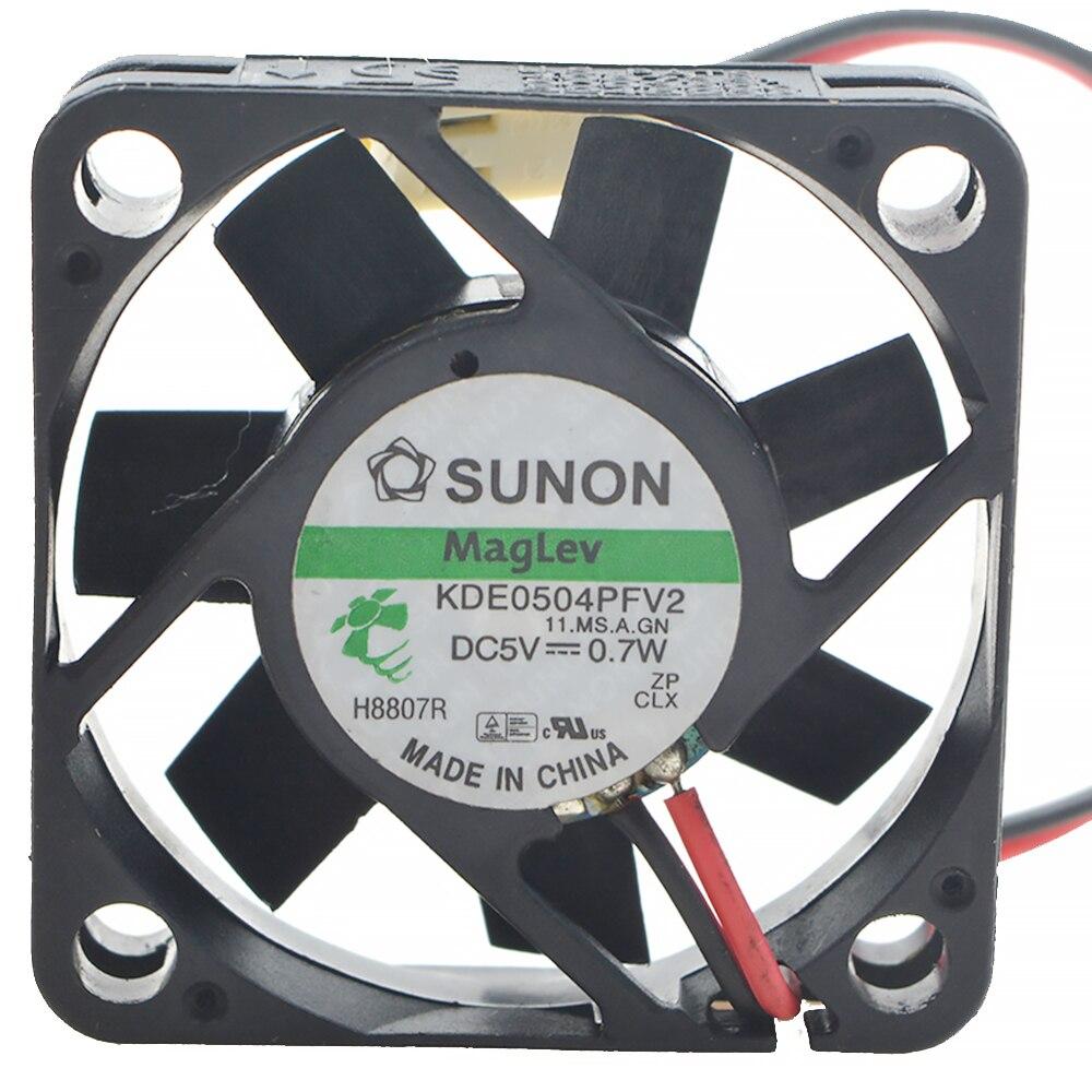 2 Stuks Originele Voor Sunon KDE0504PFV2 Maglev Vapo Dc 5V Fan 4Cm 4010 40X40X10mm 0.7W Cooling Fans Cpu