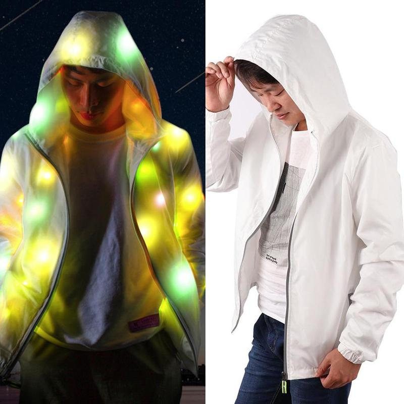 1 PCS Creative Halloween Waterproof Colorful LED Luminous Costume Clothes For Dancing LED Lighting Coat Clothes For Event Party