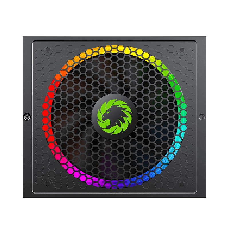 GameMax 1050W Power Supply Fully Modular 80+ Gold Certified with Addressable RGB Light - Vairous Color Mode, RGB-1050-Rainbow 2