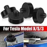 1/4 sztuk czarna guma podnośnik punkt Pad Adapter Jack Pad narzędzie podwozia Jack akcesoria samochodowe do stylizacji dla Tesla Model X/S/3