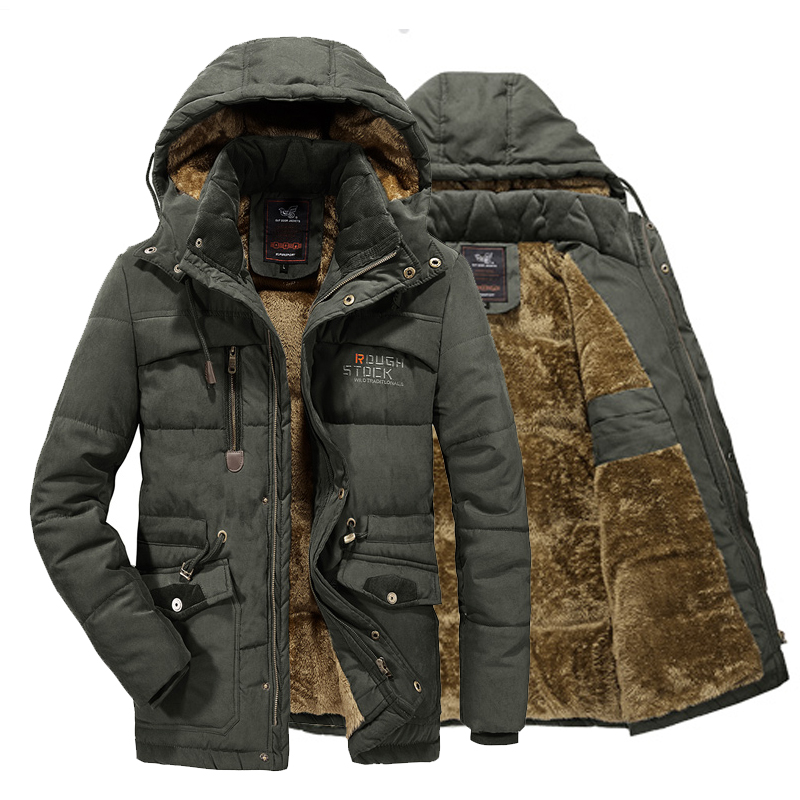 2020 New Men's Winter Jackets Thick Hooded Fur Collar Parka Men Coats Casual Padded Mens Jackets Male Clothing Down Parkas 8XL