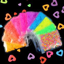 1 сумка голографическое искусство ногтей украшения флуоресцентные