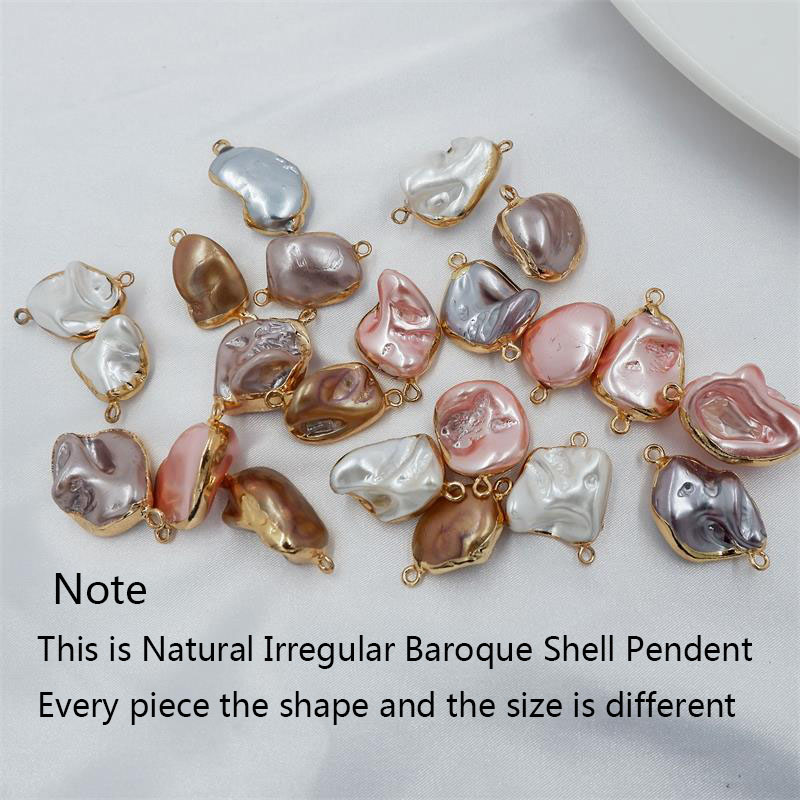 Multi Layers Irregular Shell Pendent Necklace Baroque Shell Gold Color For Women Beach Jewelry Party Gifts