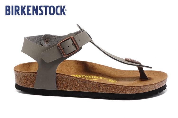 2019 New Summer BIRKENSTOCK Beach Cork Slipper Flip Flops Sandals Women MEN  Casual Slides Shoes Flat Size:35-44