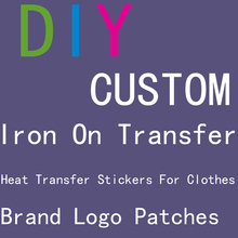 iron on transfers for clothing custom patch badge brand logo patch iron-on transfer thermocollants thermo stickers for clothes