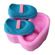 1 шт кружевная детская обувь Пищевая силиконовая форма полимерная