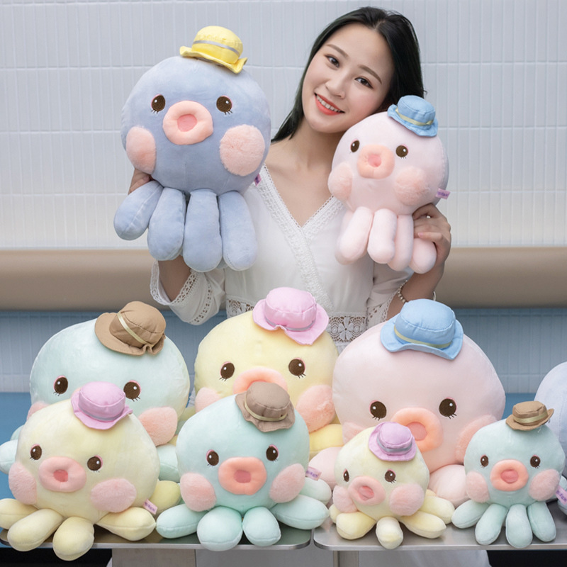 20cm Kawaii Octopus Plush Toys Stuffed Animal Soft Undersea Animal Home Accessories Cute Animal Doll Children Christmas Gifts