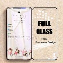 Vidro temperado sem moldura para iphone, vidro protetor de tela, para iphone x, xs, max, xr, 11, pro, max, xs, max 11 filme de vidro promax