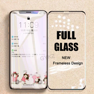 Image 1 - ללא מסגרת זכוכית מחוסמת עבור iPhone X XS Max XR 11 פרו מקסימום מסך מגן זכוכית מחוסמת עבור iPhone XS מקסימום 11PROMAX זכוכית סרט
