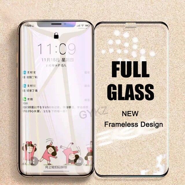 ללא מסגרת זכוכית מחוסמת עבור iPhone X XS Max XR 11 פרו מקסימום מסך מגן זכוכית מחוסמת עבור iPhone XS מקסימום 11PROMAX זכוכית סרט