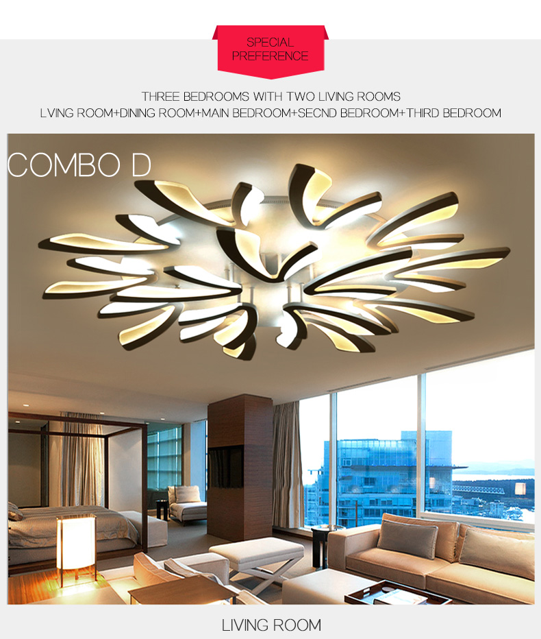 He822a087ed9546a0b5790aaca5080d6fF LED Ceiling Lights Dandelion Indoor Ceiling Lamp Modern Simple Post-Modern Living Room Bedroom Dining Room Study Room
