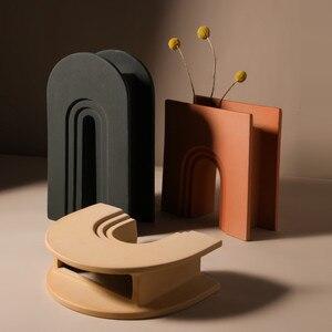 CHARON Arch ваза для украшения интерьера Morandi керамические вазы скандинавские jarrones для цветов настольные украшения wazon macetas de ceramica