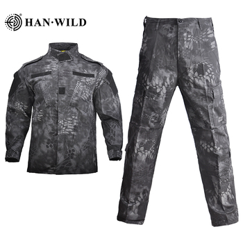 HAN WILD Military Uniform Jungle Camouflage Combat Airsoft Tactical Jacket Pants Clothing Set ACU CP Army Suit Dropshipping 6