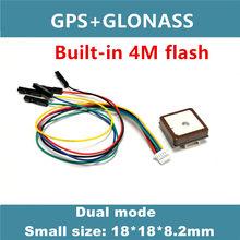 4 m flash gnss gps módulo, gps receber antena, neo m8n solução, gnss módulo, módulo gps duplo, uart ttl nível, GG-1802 pequeno tamanho