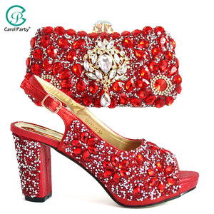 Red Color Nigerian Shoes and M