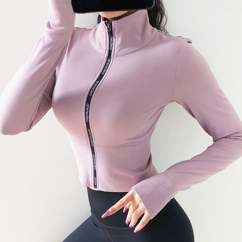 Women's Long Sleeves Crop top Sports Jersey Slim Fit shirt Fitness Yoga Top Winter Workout Jacket Female Gym Shirts Sport9s