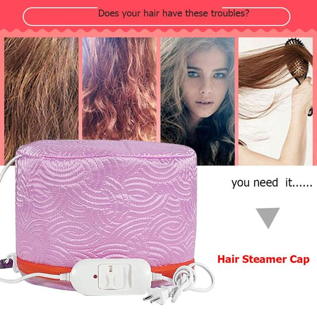 3 Modes Adjustable Hair Steamer Cap Dryers Electric Hair Heating Cap Hat Salon Home Use DIY Hair SPA Nourishing Styling Tools 3