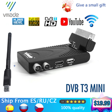 Vmade 2020 HD דיגיטלי מקלט טלוויזיה מקלט DVB t2 terrestrial מקלט תמיכת youtube עם usb wifi dvb t2 מפענח h.265 טלוויזיה תיבה