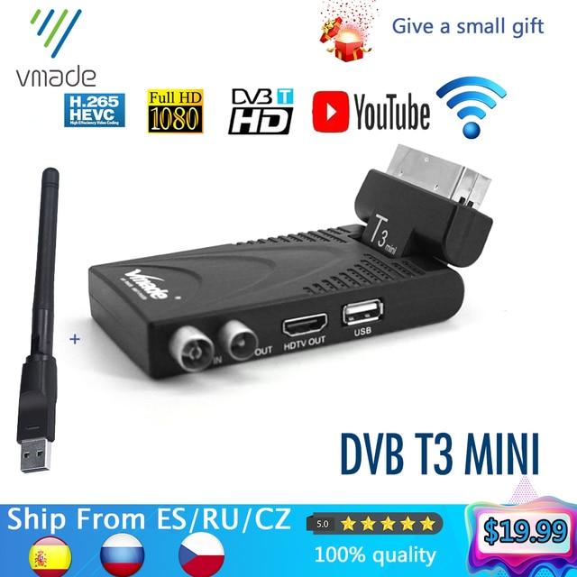 Vmade 2020 HD цифровой приемник ТВ тюнер DVB t2 наземный приемник Поддержка youtube с usb wifi dvb t2 декодер h.265 ТВ коробка