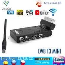 Vmade 2020 hd receptor digital tv sintonizador dvb t2 receptor terrestre suporte youtube com usb wifi dvb t2 decodificador h.265 caixa de tv