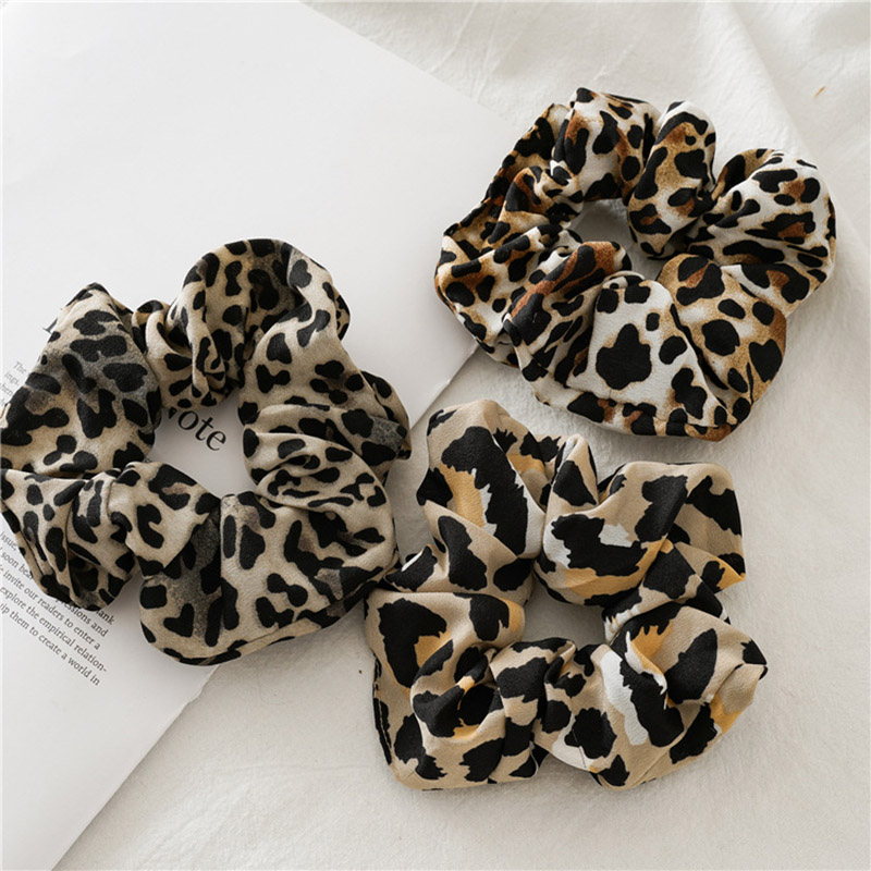 Women Snake Leopard Print Elastic Hair Bands Hair Tie Scrunchie Rubber Bands Ponytail Holder Fashion Hair Accessories